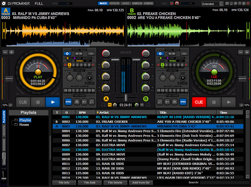 Click to view DJ ProMixer Free Home Edition 2.0 screenshot
